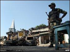 Soldier at Pan Bazar