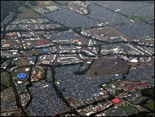 Glastonbury festival site 2008