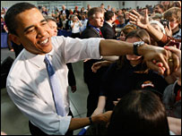 اوباما يحيي انصاره