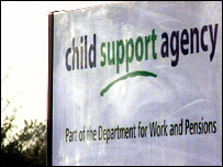 Child Support Agency sign