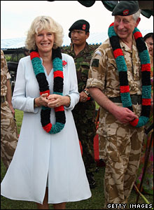 Camilla and Charles, British military garrison, Seria, Brunei