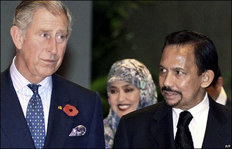 Prince Charles with Sultan of Brunei