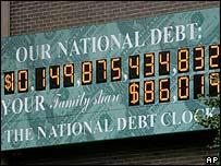 Reloj de la deuda de Estados Unidos.
