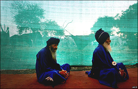 Sikh Nihang Warriors in Nanded, India