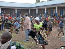 There have been scenes of chaos at refugee camps around Goma on 31 October 2008
