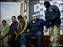 Jes�s Zambada y otros narcotraficantes capturados.