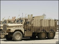 Mastiff vehicles in Afghanistan