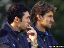 Martin Keown (left) and Tony Adams in 1999