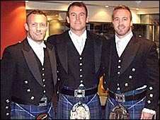 All dressed up - Henderson brothers don the kilts in Australia