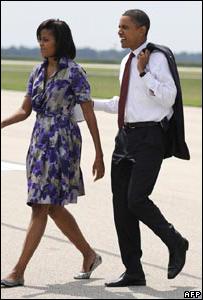 ميشال مع زوجها باراك أوباما