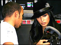 Lewis Hamilton and girlfriend Nicole Scherzinger