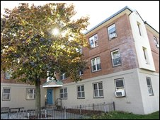 The house in Boston where Mr Obama's aunt is said to have been living