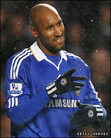 Nicolas Anelka celebrates his second goal