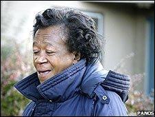 Zeituni Onyango, photographed outside her home on 28 October (image: Panos)