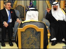 Gordon Brown and King Abdullah of Saudi Arabia