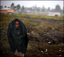 Child at Refugee camp near Goma (1 November 2008)