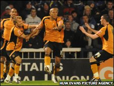Wolves scorer Chris Iwelumo