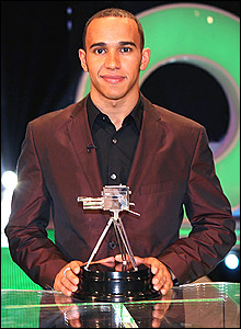 Lewis Hamilton is runner-up in the 2007 Sports Personality of the Year
