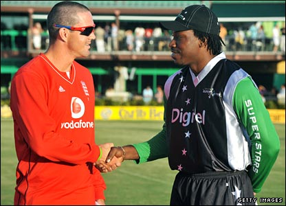 Kevin Pietersen and Chris Gayle