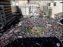 مظاهرة سورية