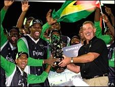 Sir Allen Stanford and his winning team