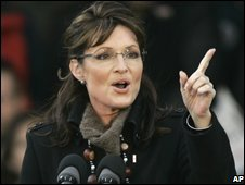 Sarah Palin, file pic from 29 October 2008