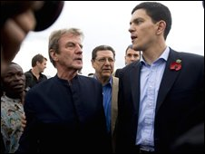 Bernard Kouchner (left) and David Miliband
