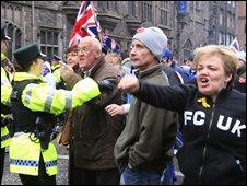 Loyalist demonstrators