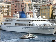 Ocean Breeze, the yacht formerly owned by Saddam Hussein, docked in Nice, France (file image)