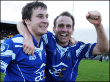 Cavan Gaels' Daniel Graham and Philip O'Donnell