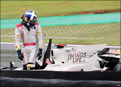 Coulthard's career ends in cruel fashion