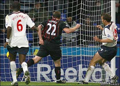 Dunne scores an own goal