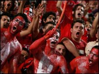 Ahly fans before the game