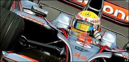 Lewis Hamilton en la clasificación en Brasil
