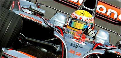 Lewis Hamilton en la clasificaci�n en Brasil