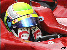 Felipe Massa at the end of the Brazilian Grand Prix