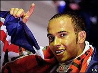 Hamilton celebra en Brasil