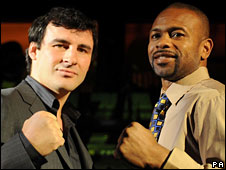 Joe Calzaghe and Roy Jones Jr