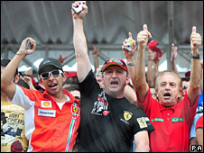 Ferrari fans at the Brazil Grand Prix