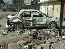 Aftermath of Baghdad bomb - 3/11/2008