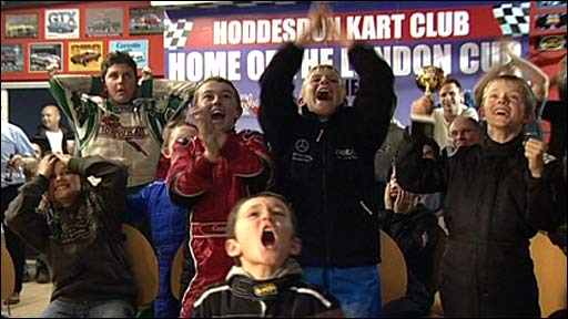 Young racers at Hoddesdon karting club