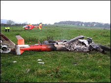 The crash site (pic from County Air Ambulance)