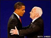 Barack Obama (izq.) y John McCain.