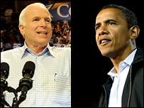 Джон Маккейн и Барак Обама (коллаж)