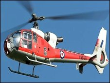 Gazelle helicopter: pic Air Teams Images