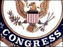 Detalle del escudo del Congreso.