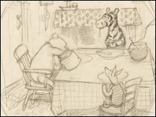 E.H. Shepard's sketch of Pooh bear