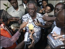 Michael Sata in Lusaka, Zambia, 30 October 2008