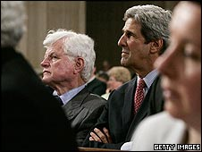 Ted Kennedy and John Kerry