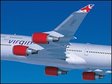 Virgin Atlantic jet, Virgin